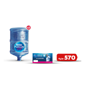 Nestlé ® Pure Life® Drinking Water package 2 bottles 18.9 Liters + 10 refill coupons booklet